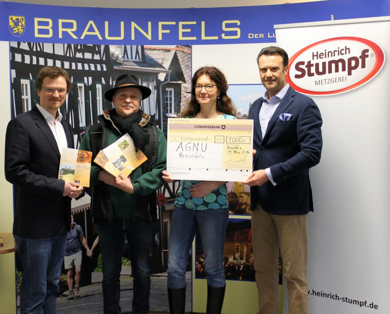 Spendenübergabe AGNU-Braunfels